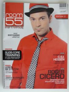 Cover von Room 55 mit Roger Cicero und dem exklusiven body & mind Artikel von Personaltrainer Rosario Battaglia